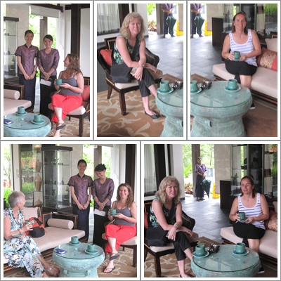 after pilates girls spa banyan tree resort