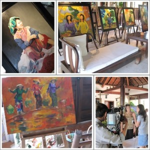 art displayed at ana mandara